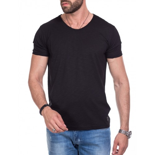 Tricou negru DON Keep It Simple