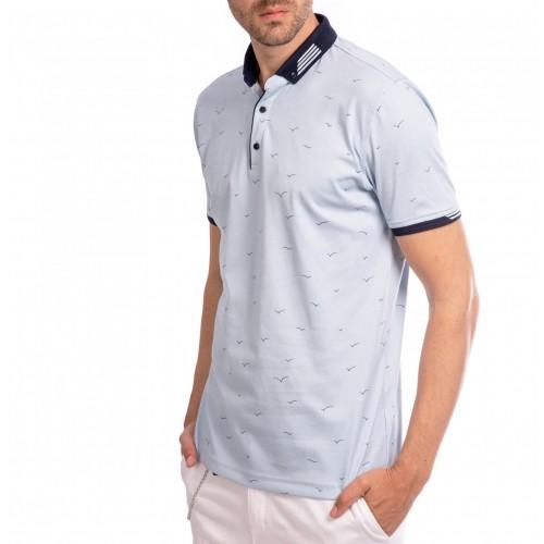 Tricou Polo bleu Andreas