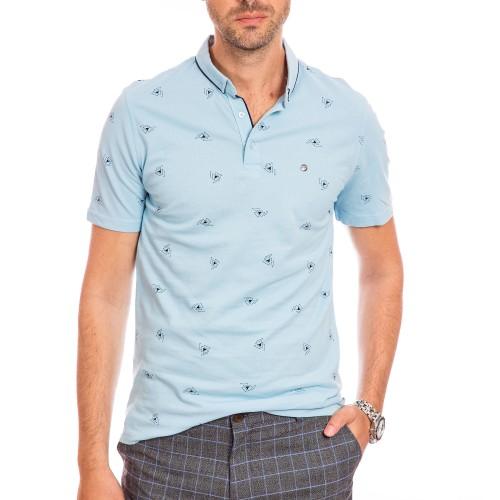 Tricou Polo bleu Cael