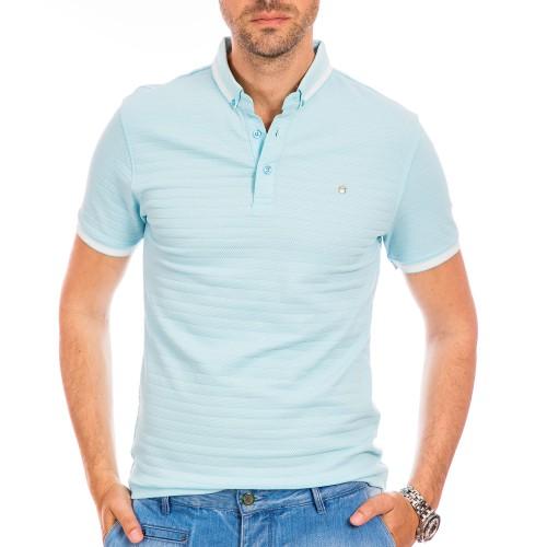 Tricou Polo bleu Salem