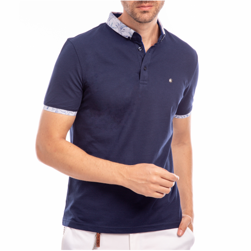 Tricou Polo bleumarin Good Vibes