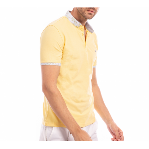 Tricou Polo galben Good Vibes