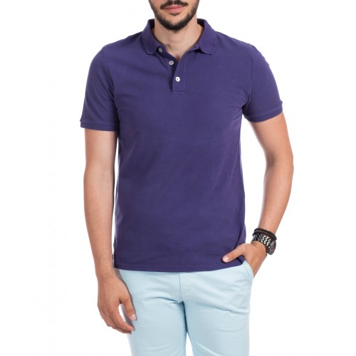 Tricou Polo indigo mov DON Summer Breeze