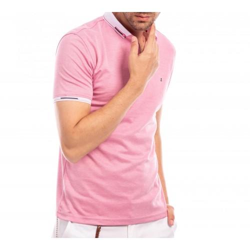 Tricou Polo roz Dereck