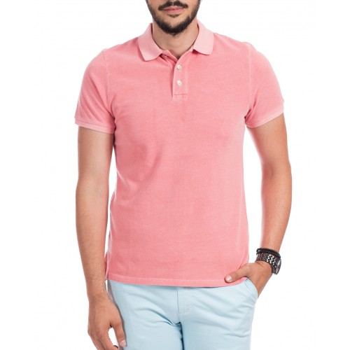 Tricou Polo roz deschis DON Summer Breeze