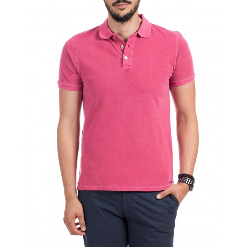 Tricou Polo roz inchis DON Summer Breeze