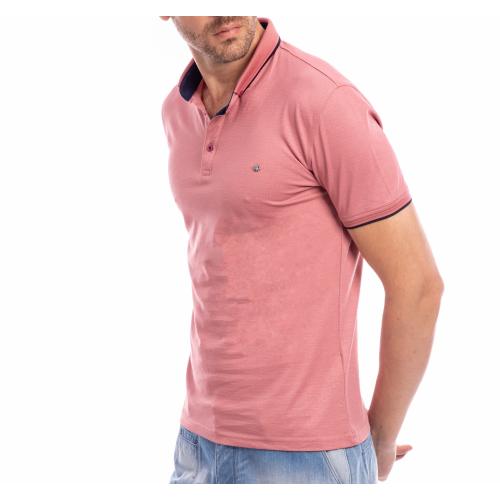 Tricou Polo roz pudra Clifford