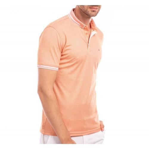 Tricou Polo roz-somon Noah