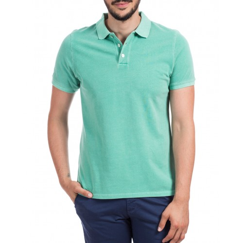 Tricou Polo verde deschis DON Summer Breeze