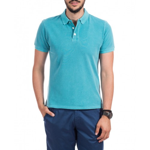 Tricou Polo verde turquoise DON Summer Breeze