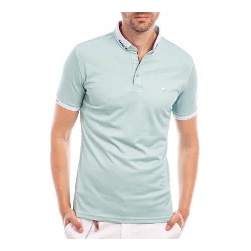 Tricou Polo verde menta Dereck