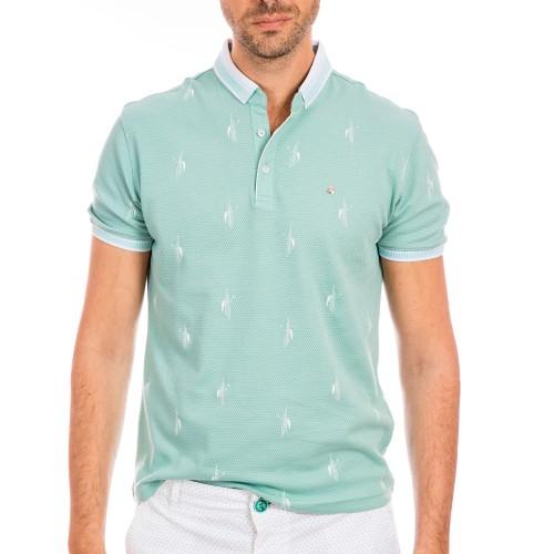 Tricou Polo verde menta Idan