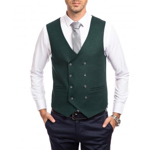 Vesta de lana verde DON Oslo